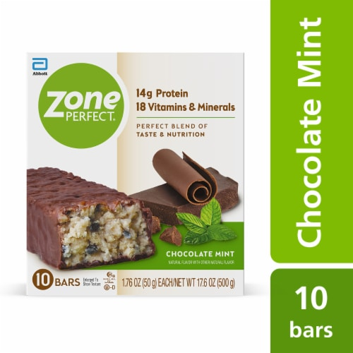 ZonePerfect Chocolate Mint Nutrition Bars Perspective: front