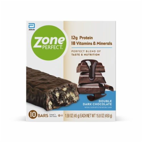 ZonePerfect Double Dark Chocolate Nutrition Bars Perspective: front