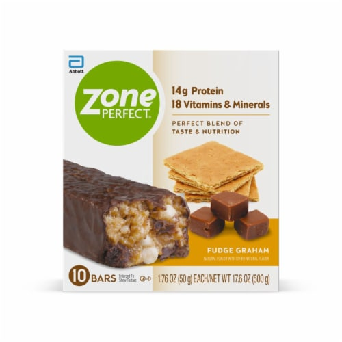 ZonePerfect Fudge Graham Nutrition Bars Perspective: front