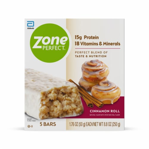 ZonePerfect® Cinnamon Roll Nutrition Bars Perspective: front