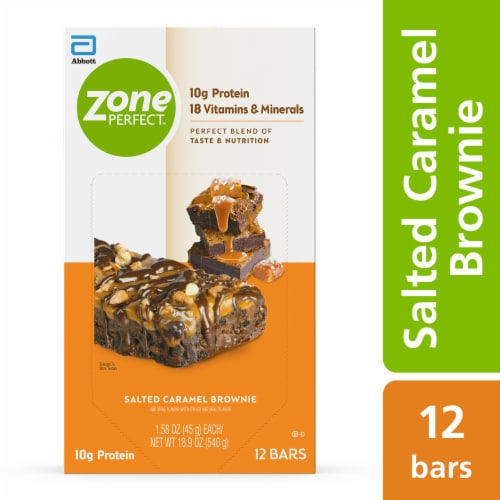 ZonePerfect Salted Caramel Brownie Nutrition Bars Perspective: front