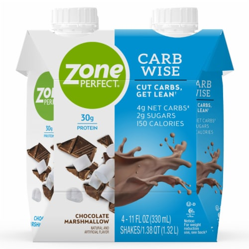 ZonePerfect Carb Wise Chocolate Marshmallow Protein Shakes Perspective: front