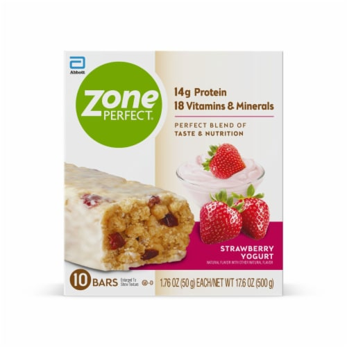 ZonePerfect Strawberry Yogurt Nutrition Bars Perspective: front