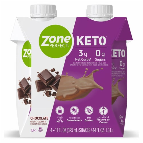ZonePerfect Keto Chocolate Ready to Drink Shakes Perspective: front