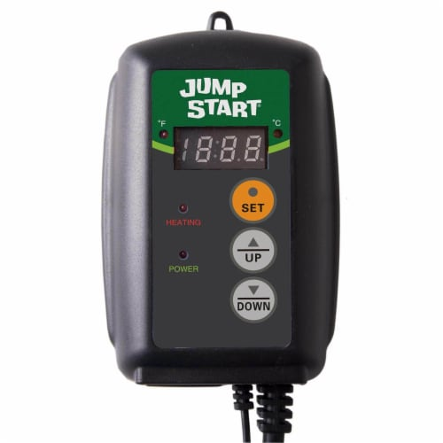 Jump Start MTPRTC Hydroponic Seedling Heat Mat Digital Thermostat Controller Perspective: front