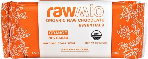 Windy City Organics Rawmio Raw Orange Chocolate Essentials Perspective: front