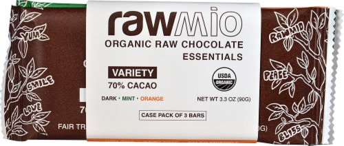 Windy City Organics Rawmio Organic Raw Chocolate Essentials Variety Pack Perspective: front