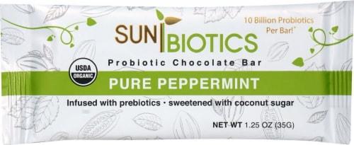 Windy City Organics Sunbiotics Probiotic Pure Peppermint Chocolate Bar Perspective: front