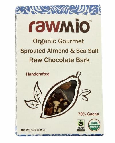 Windy City Organics Rawmio Organic Gourmet Raw Sprouted Almond & Sea Salt Chocolate Bark Perspective: front