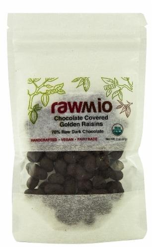 Windy City Organics  Rawmio Chocolate Covered Raisins Perspective: front