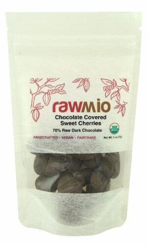 Windy City Organics  Rawmio Chocolate Covered Cherries Perspective: front