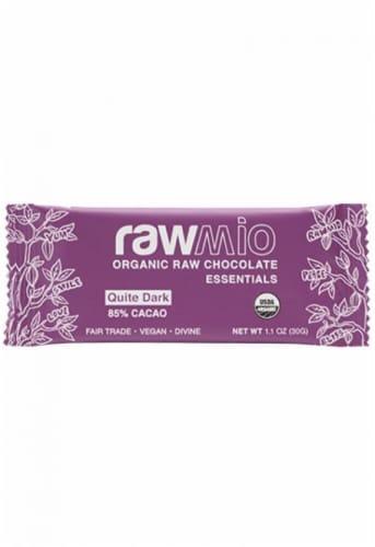 Windy City Organics Rawmio Quiet Dark 85% Cacao Organic Raw Chocolate Perspective: front