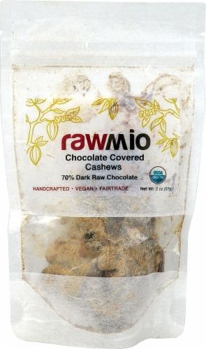 Windy City Organics Rawmio Organic Chocolate Covered Cashews Perspective: front