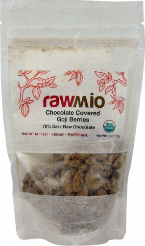 Windy City Organics Rawmio Organic Chocolate Covered Goji Berries Perspective: front
