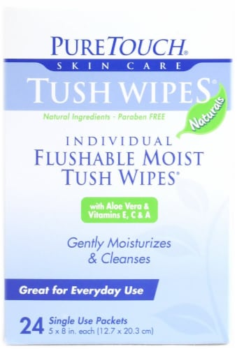 Puretouch Tush Flushable Wipes Perspective: front