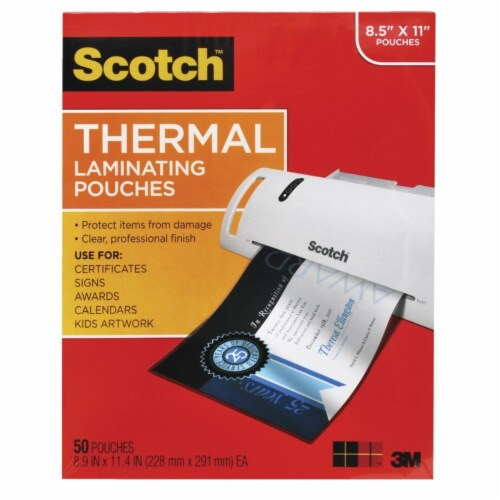 Scotch Pouches Thermal Letter Size Pack - 50 Perspective: front