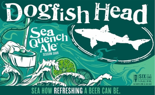 Dogfish Head Session Sour Sea Quench Ale Perspective: front