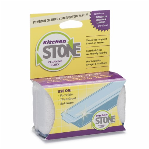 Earthstone Bathroom Stone Cleaning Block Perspective: front