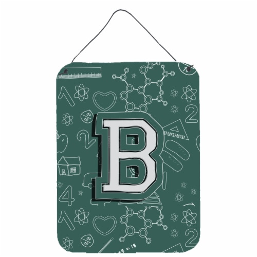 Letter B Back to School Initial Wall or Door Hanging Prints Perspective: front