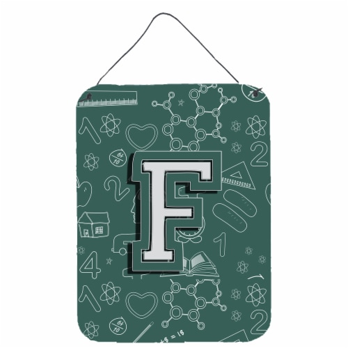Letter F Back to School Initial Wall or Door Hanging Prints Perspective: front
