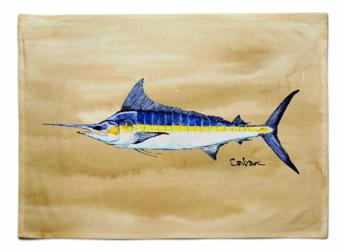 Carolines Treasures  8754PLMT Swordfish on Sandy Beach Fabric Placemat Perspective: front