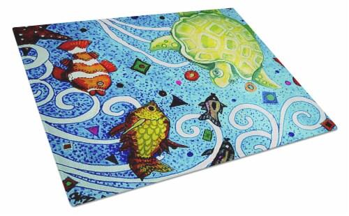 Carolines Treasures Pjc1043lcb Turtle Time Turtle Glass Cutting Board Large 12hx15w Ralphs