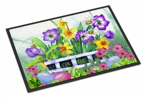 Carolines Treasures  PJC1099MAT Finding Easter Eggs Indoor or Outdoor Mat 18x27 Perspective: front