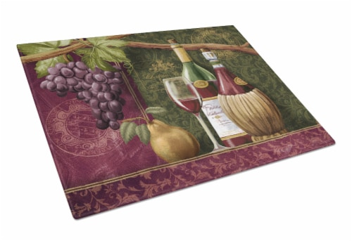 Carolines Treasures  PTW2044LCB Wine Chateau Roma Glass Cutting Board Large Perspective: front