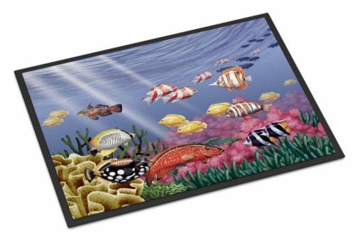 Carolines Treasures  PTW2032MAT Undersea Fantasy 7 Indoor or Outdoor Mat 18x27 Perspective: front