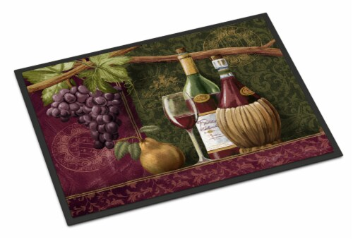 Carolines Treasures  PTW2044MAT Wine Chateau Roma Indoor or Outdoor Mat 18x27 Perspective: front
