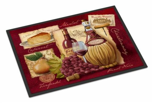 Carolines Treasures  PTW2046MAT Wine and Cheese Indoor or Outdoor Mat 18x27 Perspective: front