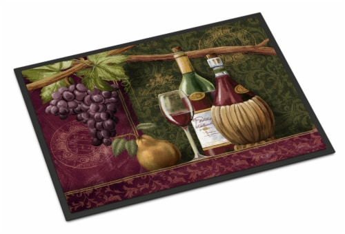 Carolines Treasures  PTW2044JMAT Wine Chateau Roma Indoor or Outdoor Mat 24x36 Perspective: front