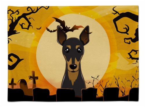 Carolines Treasures  BB1798PLMT Halloween Min Pin Fabric Placemat Perspective: front
