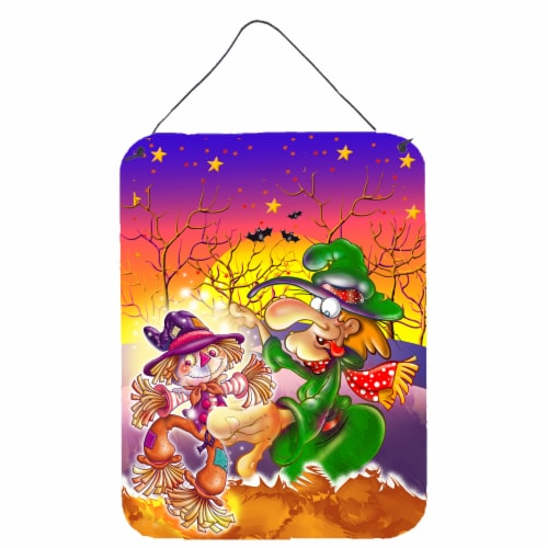Witch Voodoo Scarecrow Halloween Wall or Door Hanging Prints Perspective: front