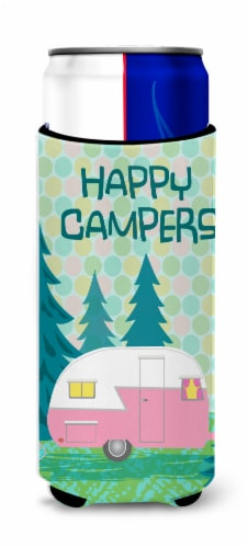 Happy Campers Glamping Trailer Ultra Beverage Insulators for slim cans Perspective: front