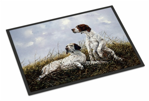 English Pointer by Michael Herring Indoor or Outdoor Mat 24x36 Perspective: front