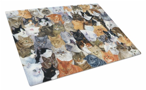 Carolines Treasures  BDBA0414LCB Cats Galore Glass Cutting Board Large Perspective: front