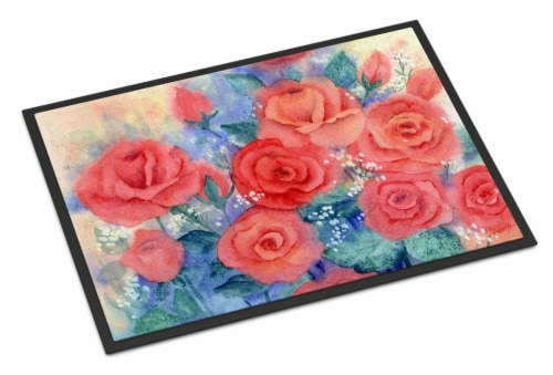 Carolines Treasures  IBD0251MAT Roses Indoor or Outdoor Mat 18x27 Perspective: front