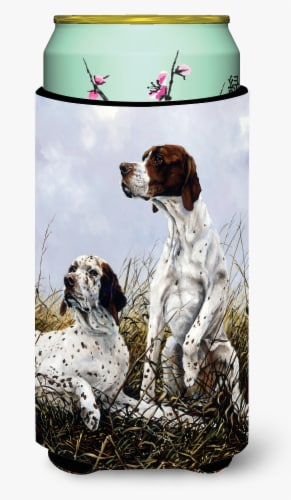 English Pointer by Michael Herring Tall Boy Beverage Insulator Hugger Perspective: front