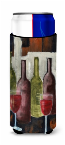 Red Wine by Petrina Sutton Ultra Beverage Insulators for slim cans Perspective: front
