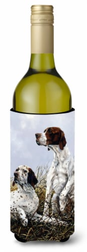 English Pointer by Michael Herring Wine Bottle Beverage Insulator Hugger Perspective: front
