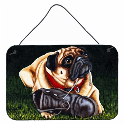 Cluster Buster the Pug Wall or Door Hanging Prints Perspective: front