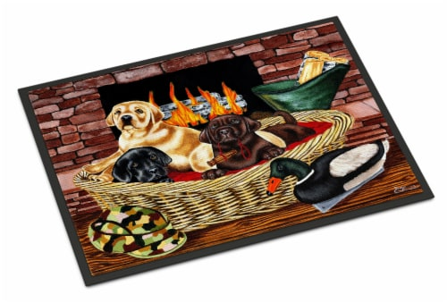 The Next Generation Labrador Indoor or Outdoor Mat 18x27 Perspective: front