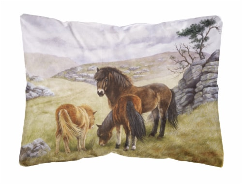 Horses In The Meadow Fabric Decorative Pillow 12hx16w King Soopers