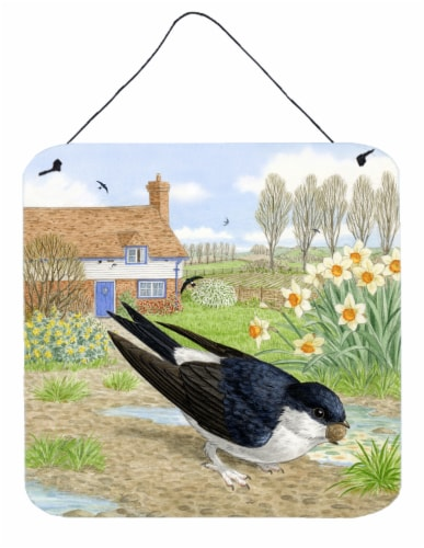 House Martin by Sarah Adams Wall or Door Hanging Prints Perspective: front