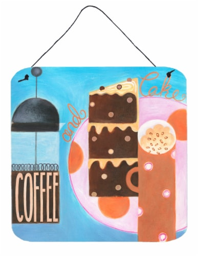 Kitchen Collection Coffee and Cake Wall or Door Hanging Prints Perspective: front