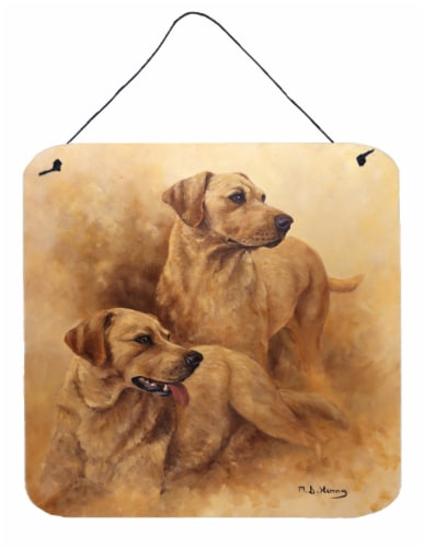 Yellow Labs by Michael Herring Wall or Door Hanging Prints Perspective: front