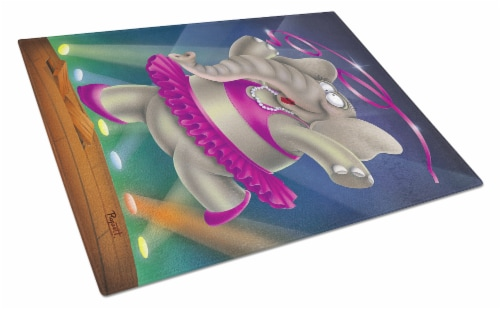 Carolines Treasures  APH0249LCB Elephant Ballerina Glass Cutting Board Large Perspective: front