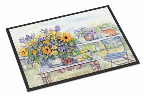 Patio Bouquet of Flowers Indoor or Outdoor Mat 24x36 Perspective: front