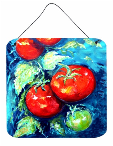 Vegetables - Tomatoes on the vine Wall or Door Hanging Prints Perspective: front